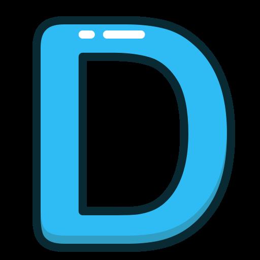 Letter D Blue Png & Free Letter D Blue.png Transparent Images #21613.