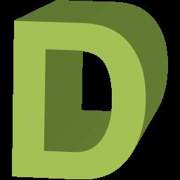 Letter D Icon.