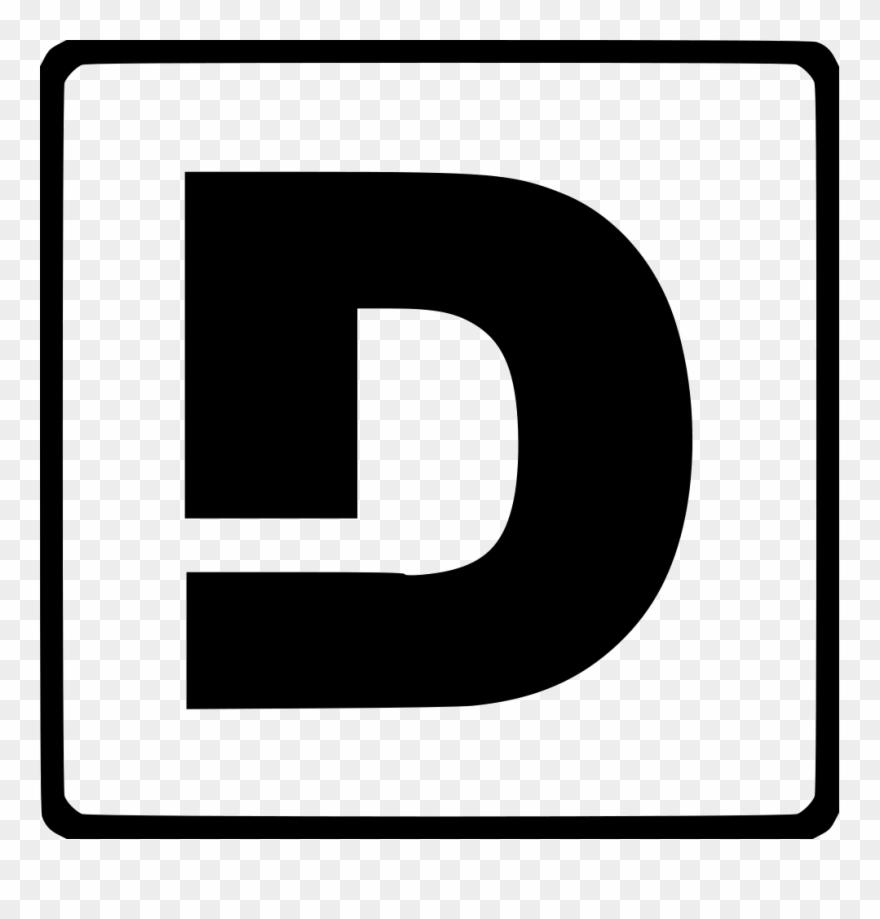 Clip Art Freeuse Download Modern Latin D Svg Png Icon Transparent.