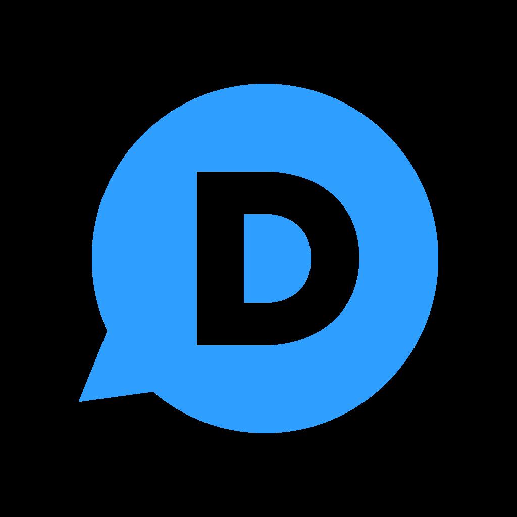 File:Disqus d icon (blue).svg.