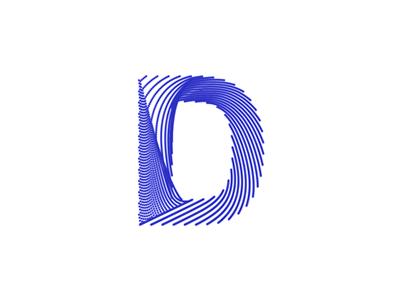 Letter D + lines / paths, logo design symbol by Alex Tass, logo.