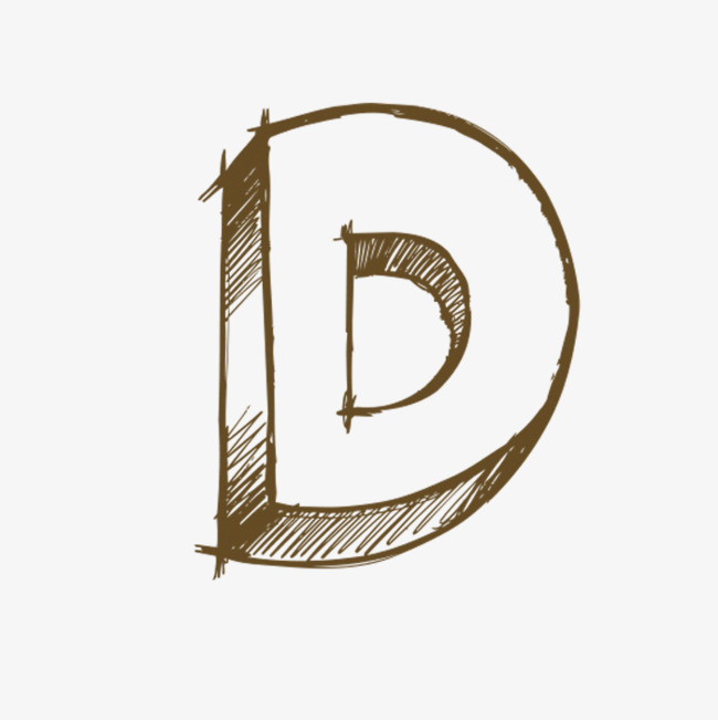 Hand Painted Letters D, Letter, Hand, D PNG Transparent Image and.