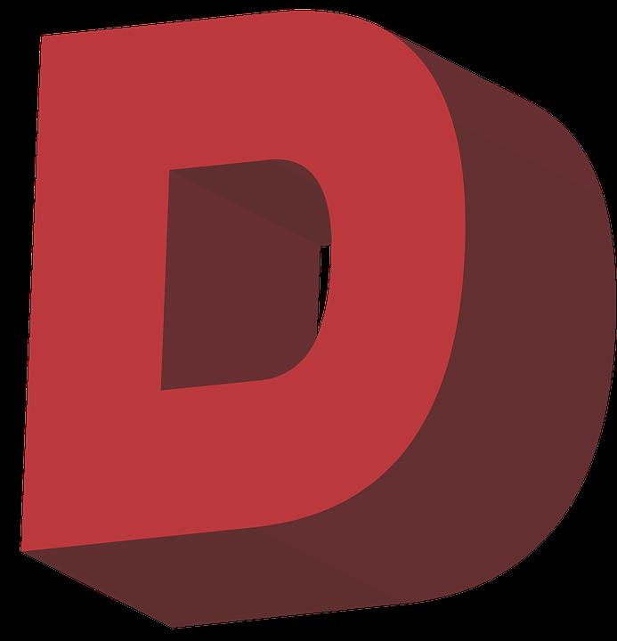 D Letter PNG Transparent Images.