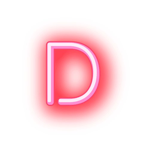 Letterhead red neon font d.
