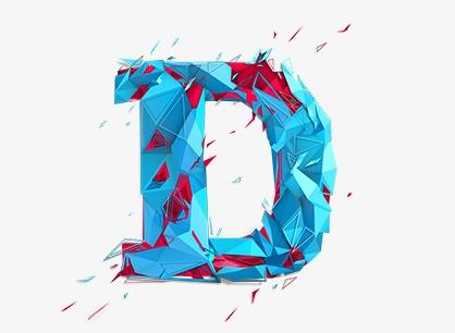 Blue Letters D, Blue Letters, D, Blue PNG Transparent Image and.