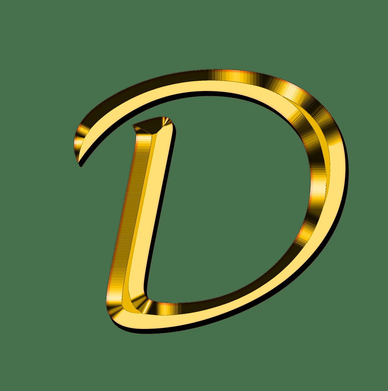Capital Letter D transparent PNG.