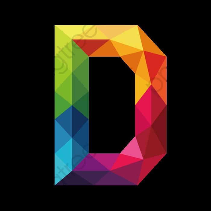 Color Letters D, Color Clipart, Letter, Colour PNG Transparent Image.