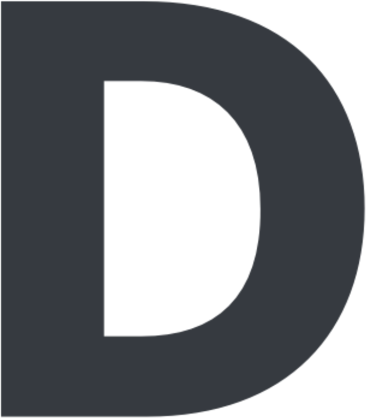 D In Bold Letter, HD Png Download.
