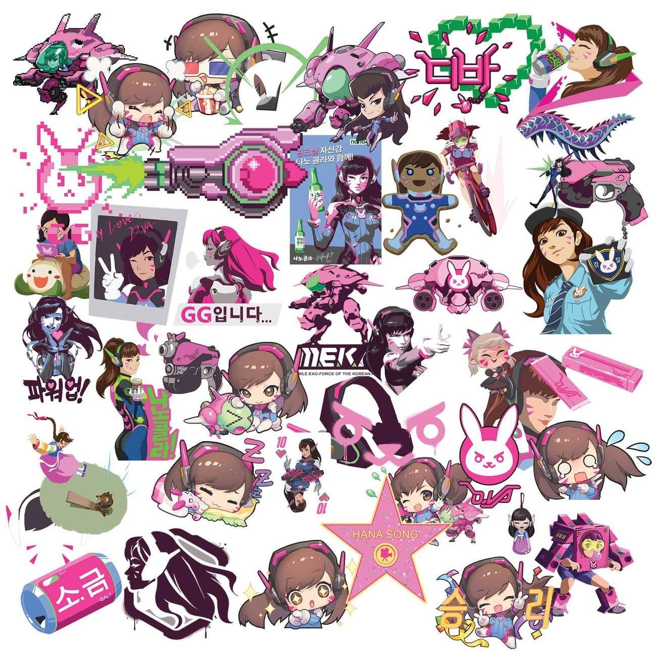 Overwatch DVa Clipart in 2019.
