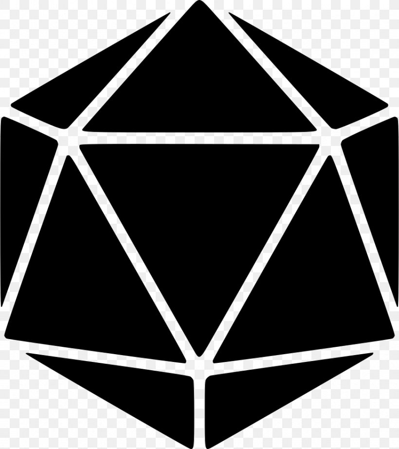 Dungeons & Dragons D20 System Regular Icosahedron Dice.