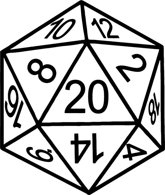D20 Drawing Icon #34415.