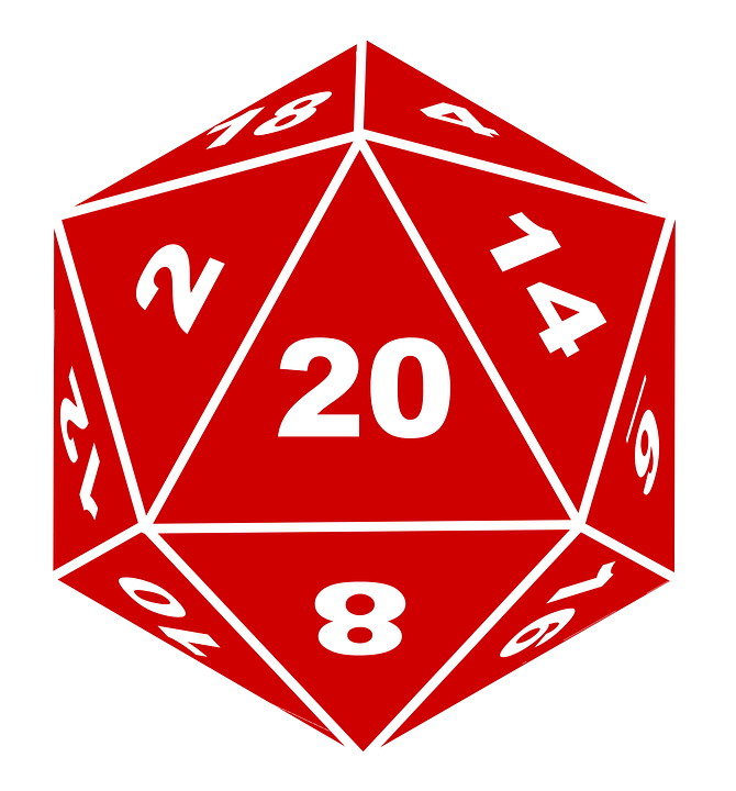 D20 Dice Dungeons Dragons.