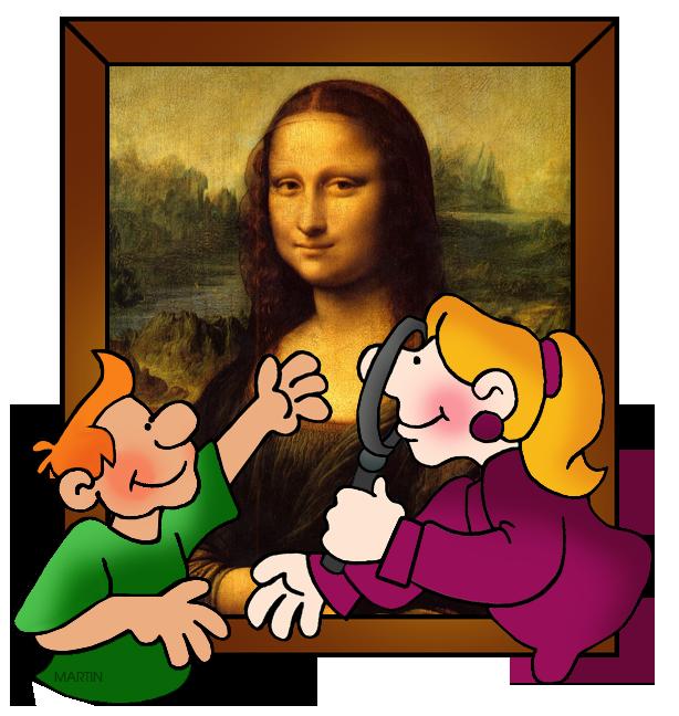Free Art Clip Art by Phillip Martin, Leonardo da Vinci.