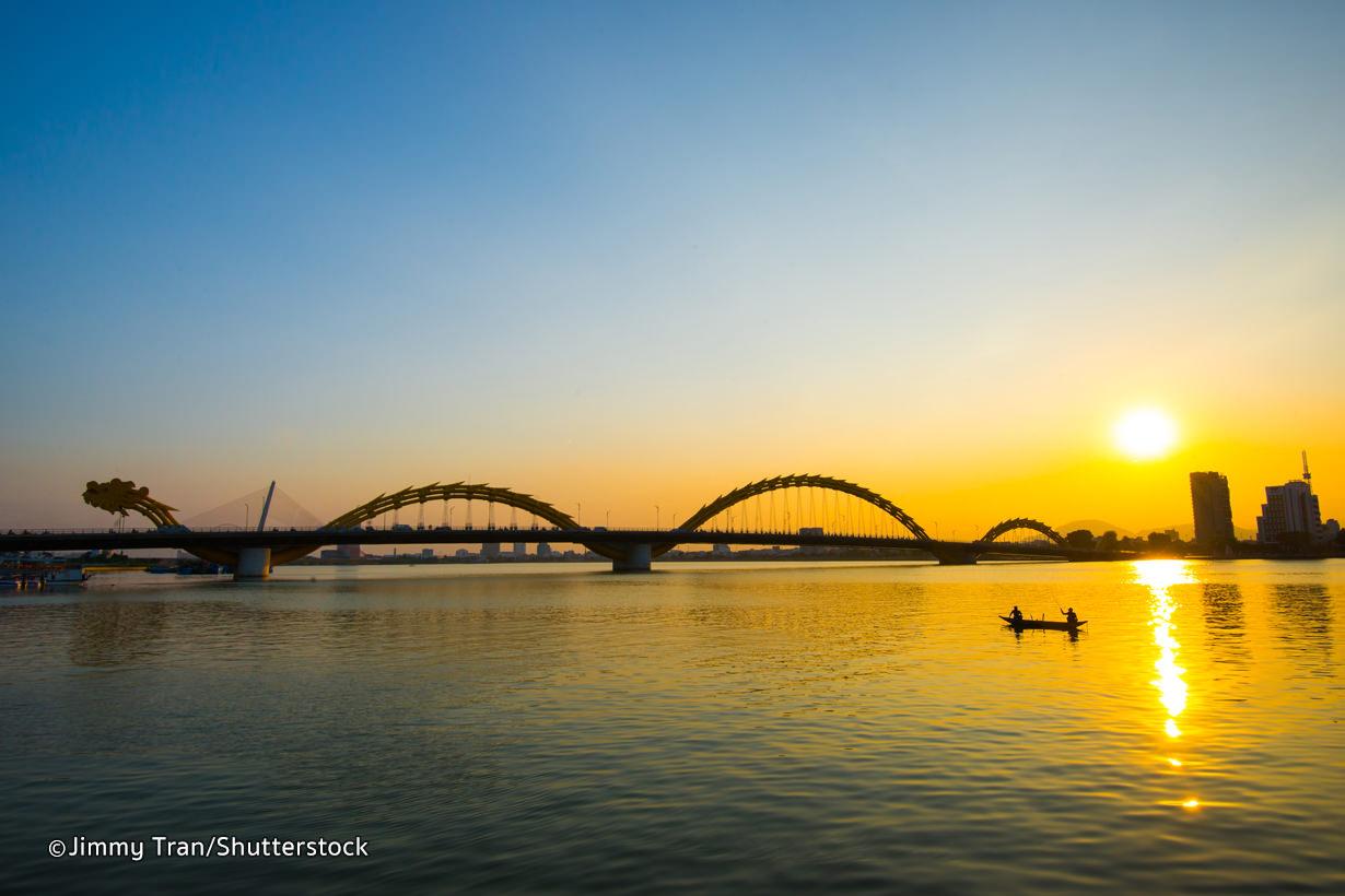 Dragon Bridge in Da Nang.