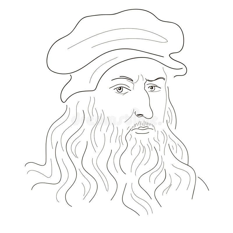 Leonardo Vinci Stock Illustrations.