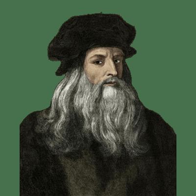 Leonardo Da Vinci Portrait transparent PNG.