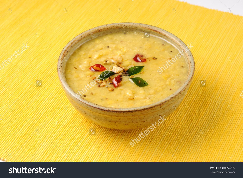 Indian Dish Tarka Dal,Daal Curry,Traditional Indian Food Stock.