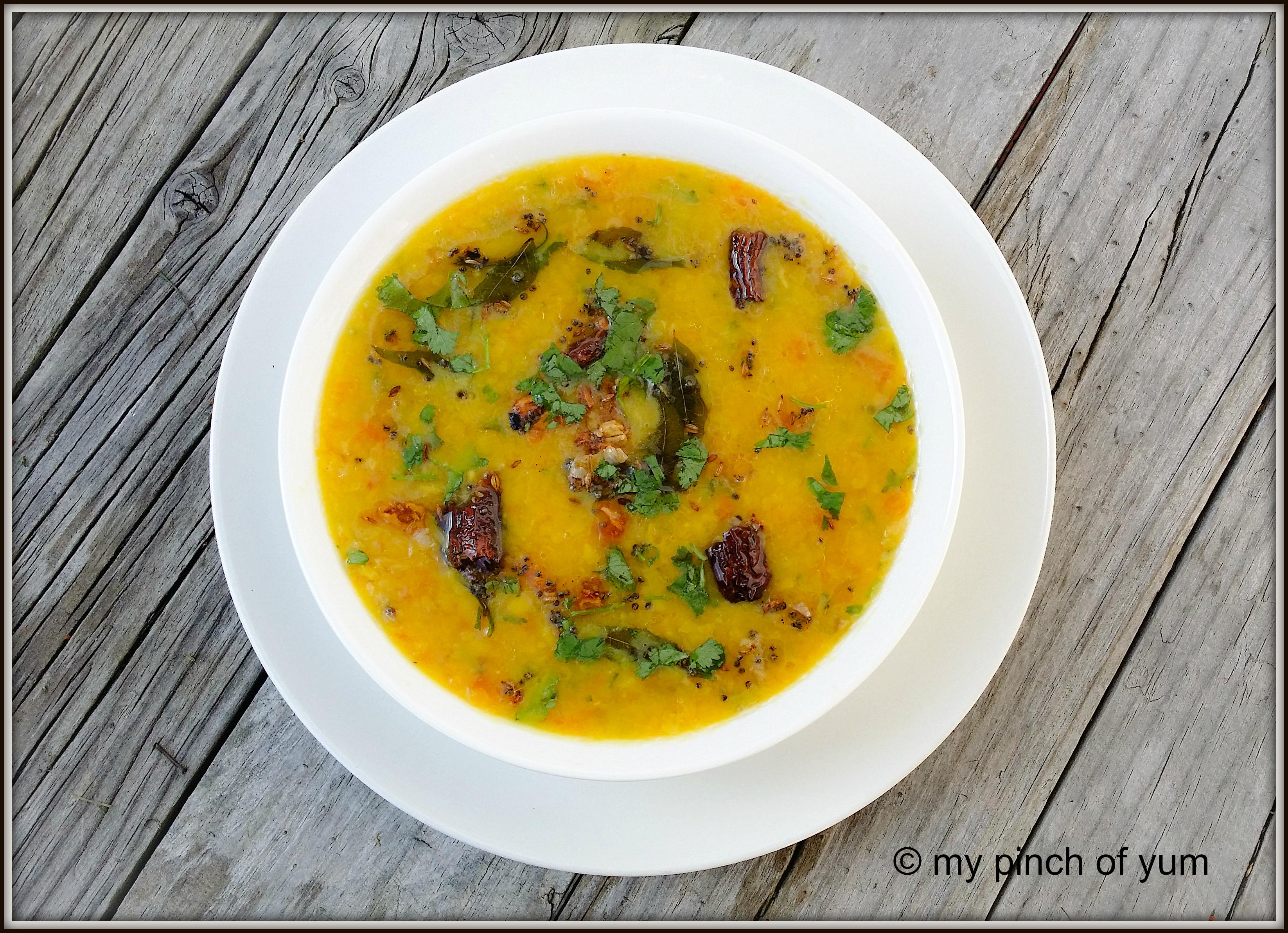 Simple Dal or Lentil Curry.