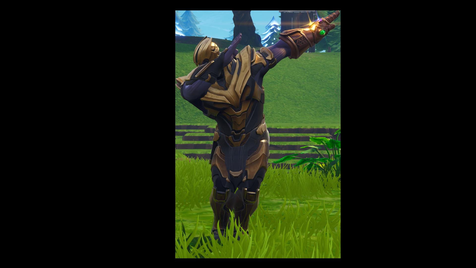 Fortnite Thanos Dab PNG Image.