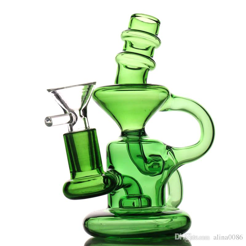 2019 Mini Recycler Glass Bong Oil Rig Classic Design Dab Rigs Tall 5.2 13cm  Little Recycler Dab Rig Water Bongs From Alina0086, $11.46.