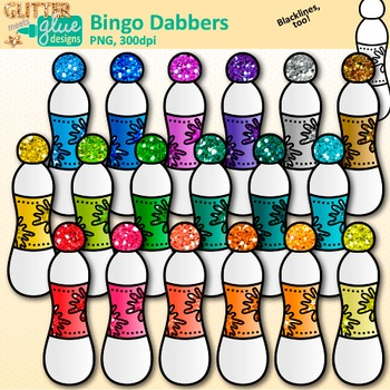 Bingo Dabber Clip Art: Board Game Dauber Graphics {Glitter Meets Glue}.