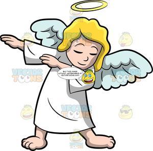 A Dabbing Angel.