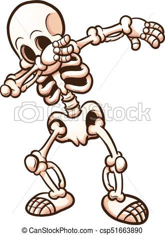Dabbing skeleton.