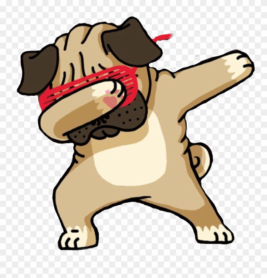 Pug Clipart Transparent Background.