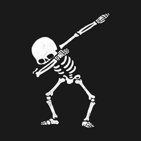 Dabbing Skeleton SVG.
