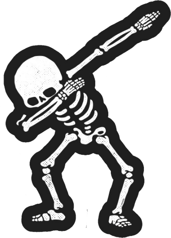 Dabbing Skeleton Shirt Dab Hip Hop Skull Dabbin White Sticker 3.5\