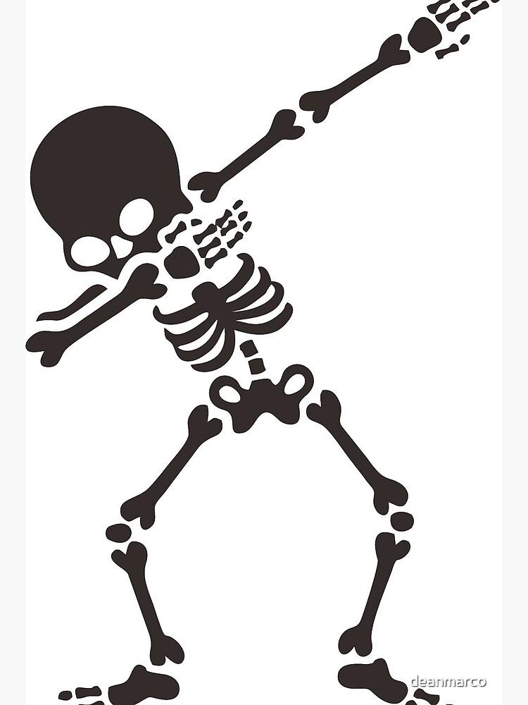 \'Dabbing skeleton (Dab)\' Art Board Print by deanmarco.