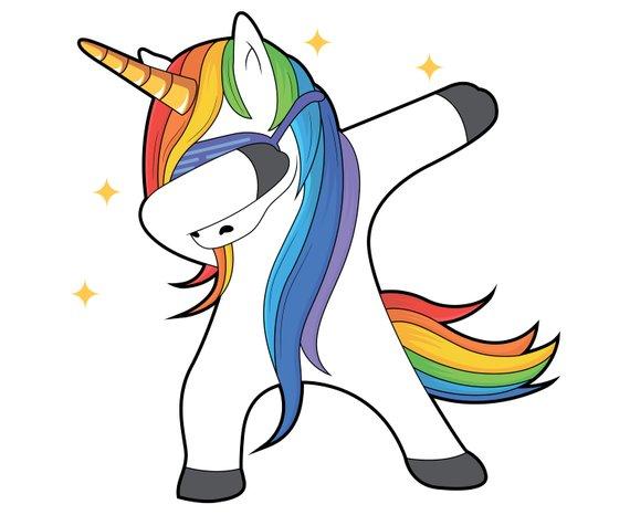 Dabbing unicorn, Silhouette,SVG,Graphics,Illustration,Vector.