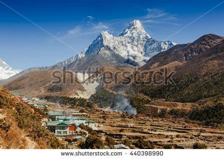 Mt Ama Dablam Stock Photos, Royalty.