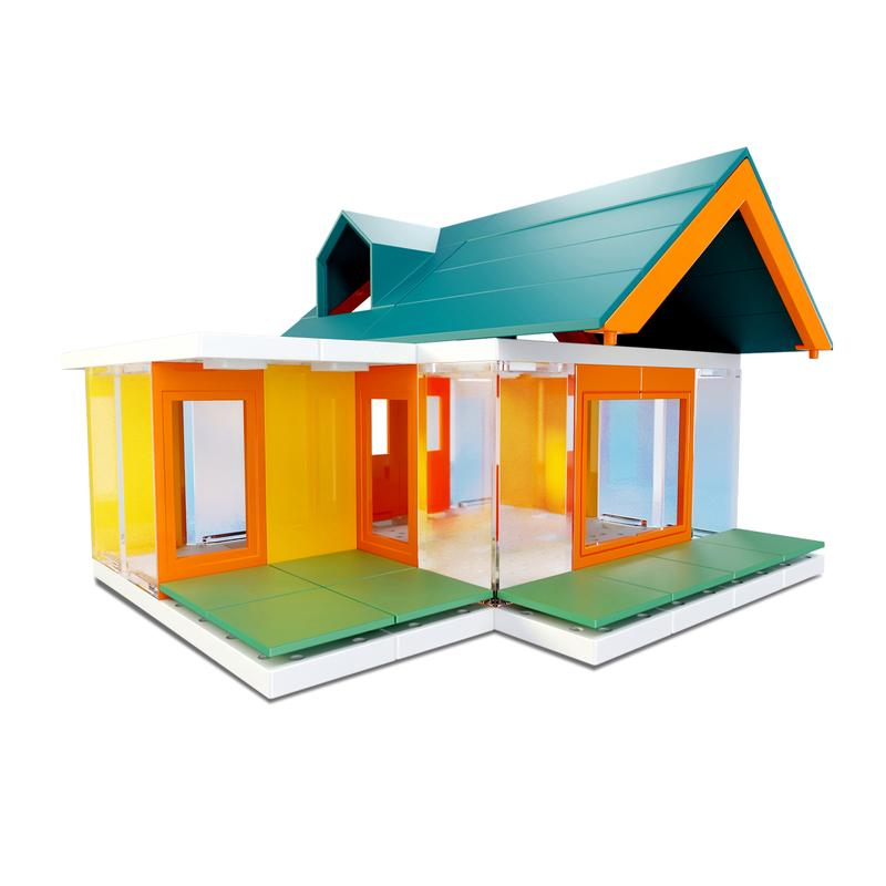 Mini Dormer Colours 2.0, 80 piece Architectural Model Kit.