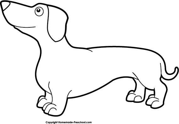 Download Free png Dachshund clipart black and w.