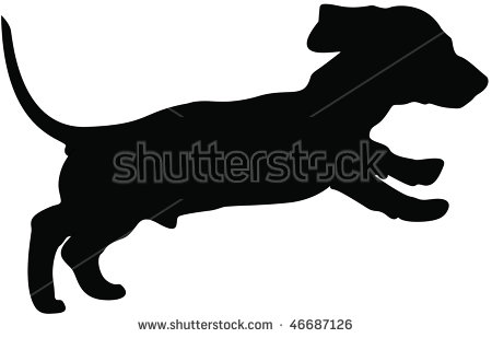 Dachshund Silhouette Stock Images, Royalty.