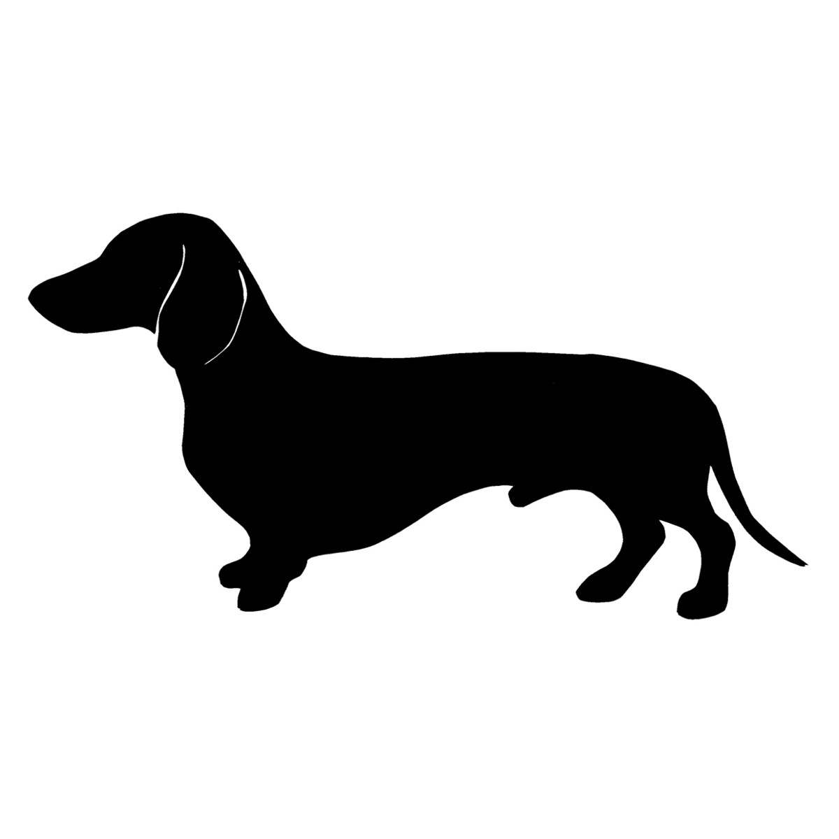 Cute and playful Dachshund pups in Silhouette Vector format for.