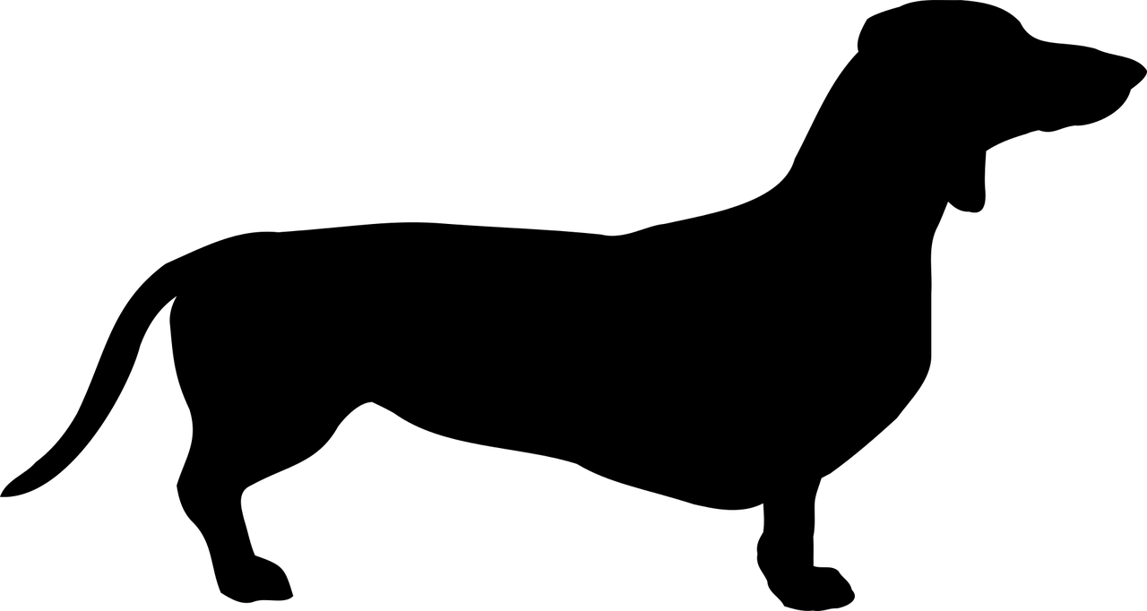 Dachshund Silhouette Clip art.