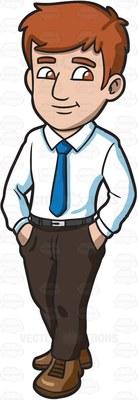 family man Cartoon Clipart.