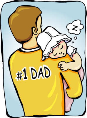 Daddy and baby clipart.