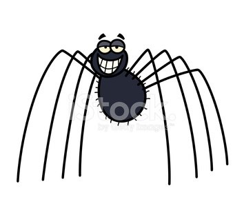 Daddy Long Legs Spider Clipart Image.