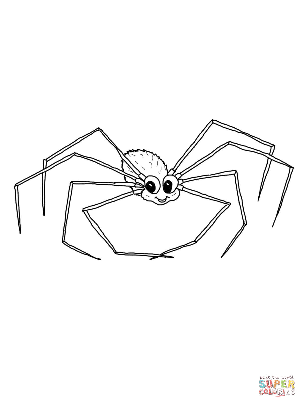 Cute Daddy Long Legs coloring page.