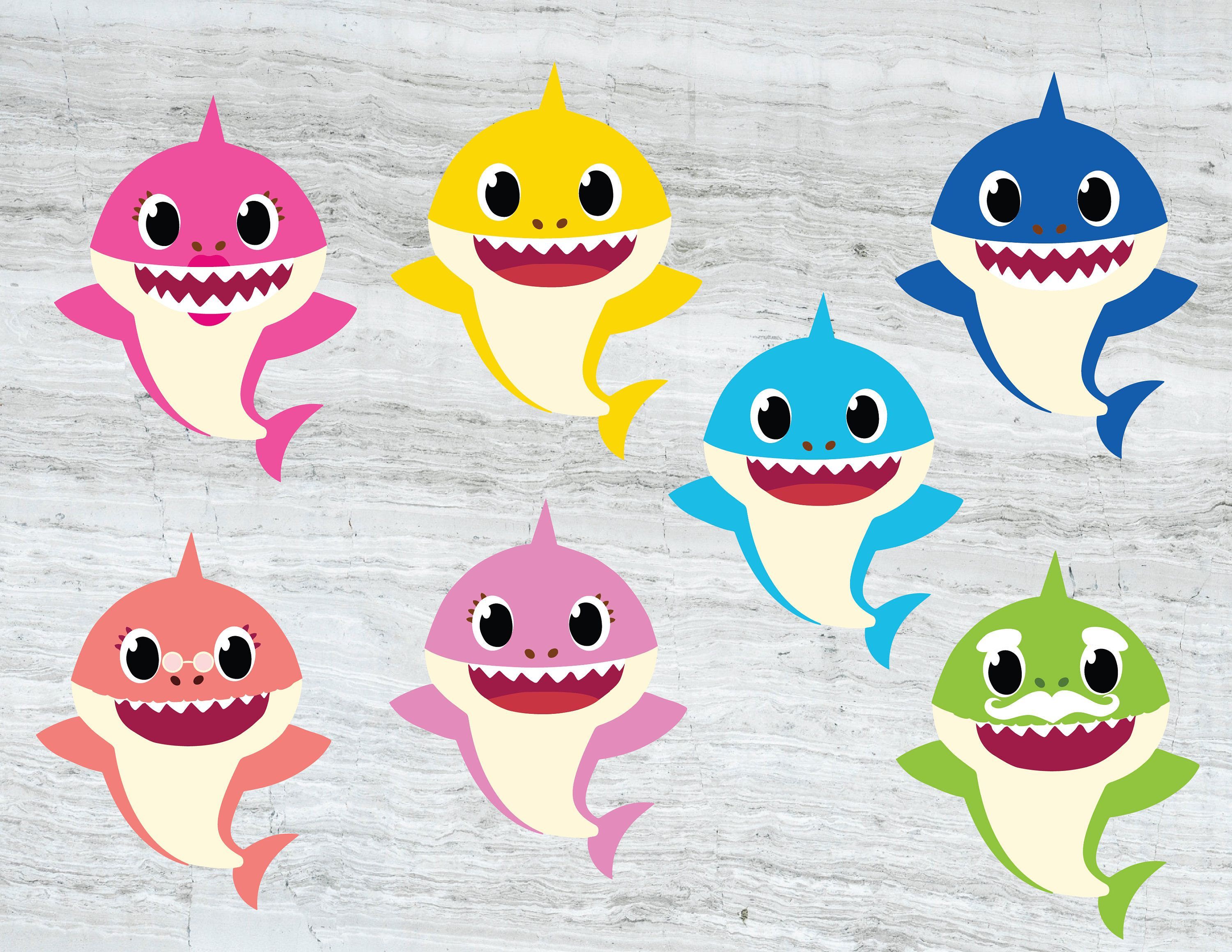 Family Shark SVG Baby shark SVG Mommy shark Daddy shark.