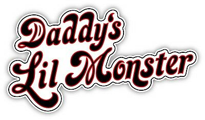 Daddy\'s Lil Monster Cartoon Sticker Decal laptop wall car phone Harley  Quinn.