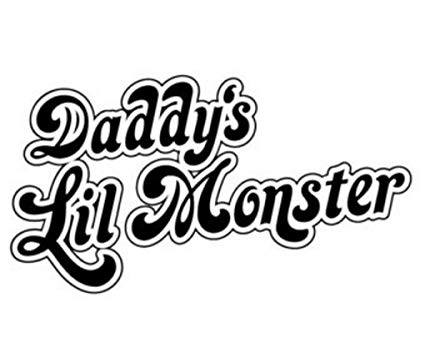 LCK Unique Design DC Comics Harley Quinn Daddy\'s Little Monster, Red, 6  Inch, Die Cut Vinyl Decal, For Windows, Cars, Trucks, Toolbox, Laptops,.