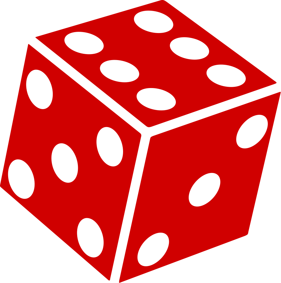 Six Sided Dice (d6) SVG Vector file, vector clip art svg file.