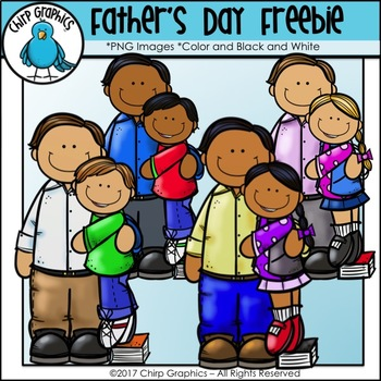 FREE Father\'s Day Clip Art Set.