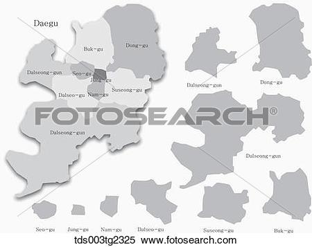 Stock Illustration of maps of Daegu tds003tg2325.