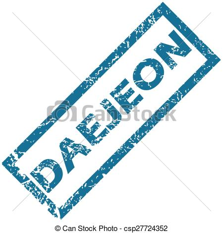 Clipart Vector of Daejeon rubber stamp.