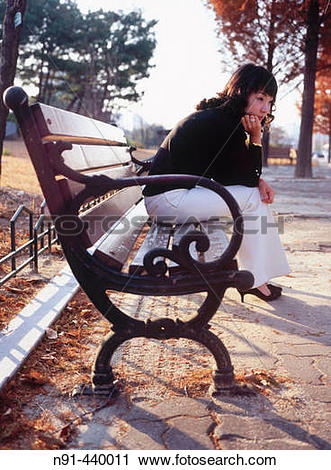 Stock Photography of Girl at park. Daejeon, South Korea n91.